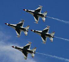 USAF Thunderbirds Diamond Belly Shot by Henry Plumley