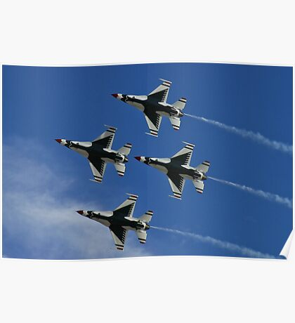 USAF Thunderbirds Diamond Belly Shot Poster