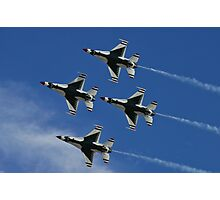 USAF Thunderbirds Diamond Belly Shot Photographic Print