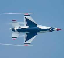 USAF Thunderbirds Lead Solo 5 Vapor Trails by Henry Plumley