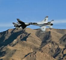 USAF Thunderbirds Solo Opposing Knife Edge Pass by Henry Plumley