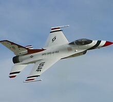USAF Thunderbirds Solo Sneak Pass by Henry Plumley