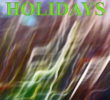holly leaf abstract    happy holidays by dedmanshootn