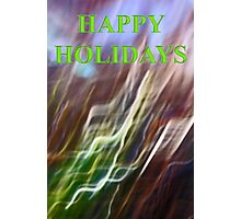 holly leaf abstract    happy holidays Photographic Print