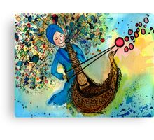 Singing with love Canvas Print