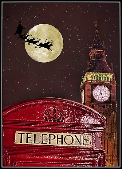 Santa over London by MarceloPaz