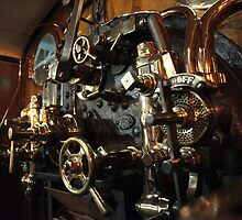 York Railway Museum Steam Engine Controls by Jan Fialkowski