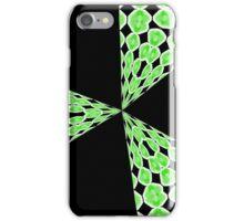 Retro Blast (black and green) iphone case iPhone Case/Skin