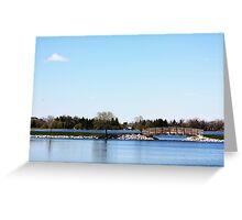 Bridge Over Henderson Lake Greeting Card