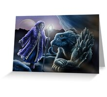 The sorceress and the dragon Greeting Card