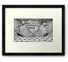 Pitter Patter of Baby feet Framed Print