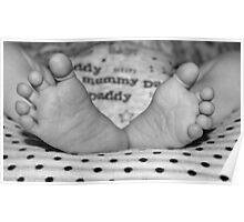 Pitter Patter of Baby feet Poster