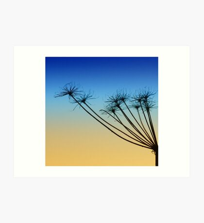 Supporting the sky Art Print