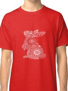 Pink Doodle Bunny Classic T-Shirt