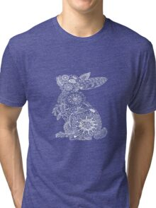 Pink Doodle Bunny Tri-blend T-Shirt