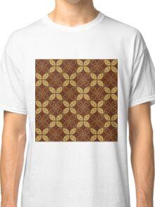 Javanese Batik Kawung Marquise Diamond Chain Classic T-Shirt