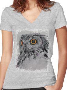 Spirit Owl Women's Fitted V-Neck T-Shirt