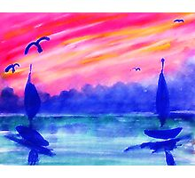 Must the day end...watercolor Photographic Print