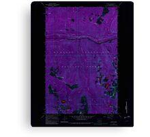 USGS Topo Map Washington State WA Scenic 243595 1965 24000 Inverted Canvas Print
