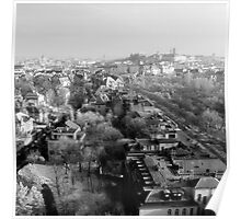 Wintery Budapest Skyline Poster