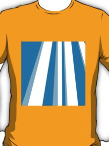 Abstract Blue Stripe T-Shirt