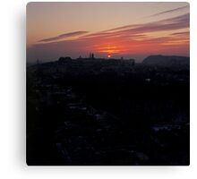 Wintery Budapest Sunrise Canvas Print