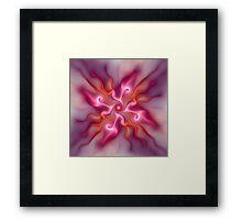 Fractal flower sketch Framed Print