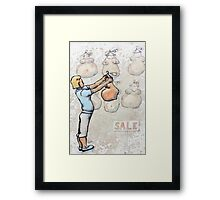 I Wonder, Will It Fit? Framed Print