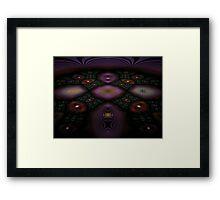 Fractal Fly-over Framed Print