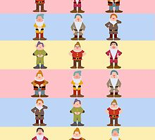 Seven Dwarfs iPhone Case by redastherose