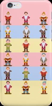 Seven Dwarfs iPhone Case by redastherose