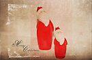 Two Santas by Denise Abé