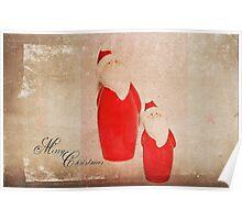 Two Santas Poster