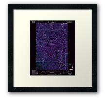USGS Topo Map Washington State WA Loup Loup Summit 242081 2001 24000 Inverted Framed Print