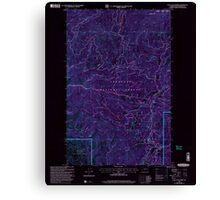 USGS Topo Map Washington State WA Loup Loup Summit 242081 2001 24000 Inverted Canvas Print