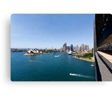 Sydney Harbour & Opera House From Sydney Harbour Bridge Canvas Print