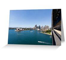 Sydney Harbour & Opera House From Sydney Harbour Bridge Greeting Card