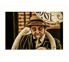 Tuba Man Art Print