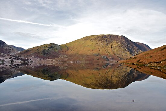 Reflections in Crummockwater by Annabelle Studholme