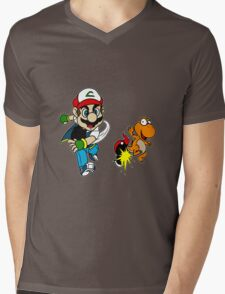Super PokeBros Mens V-Neck T-Shirt