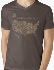 United Beers of America Mens V-Neck T-Shirt