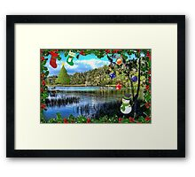 Christmas On the Rainbow River Framed Print