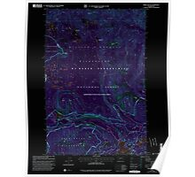 USGS Topo Map Washington State WA Spiral Butte 243898 2000 24000 Inverted Poster