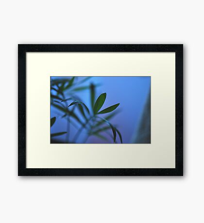 Sitting in the Mountains Framed Print