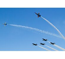Blue Angels Break to Land Photographic Print