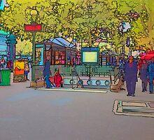 Metro in the Bastille, Paris by Hugh Smith