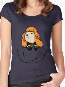 Pocket Widow Pup Women's Fitted Scoop T-Shirt