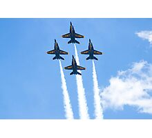 Blue Angels Diamond Belly Shot Photographic Print