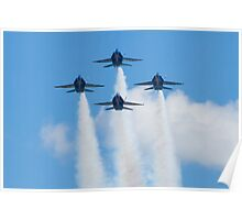 Blue Angels Diamond Head On Poster