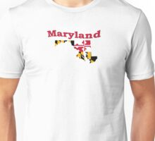 Maryland State Flag Map Unisex T-Shirt